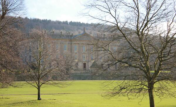 Chatsworth House, Peak District National Park Engeland
